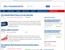 Tablet Preview of ako-investovat.sk